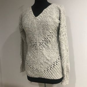 Grey Knit Sweater - The Limited